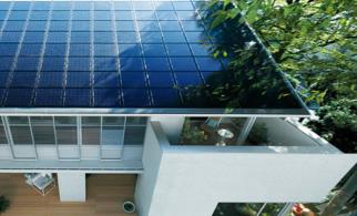 ミサワホームの独自開発、「屋根建材一体型太陽電池」を採用している太陽光発電住宅